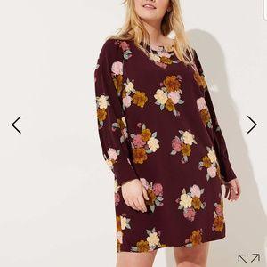 Loft plum perserve floral dress